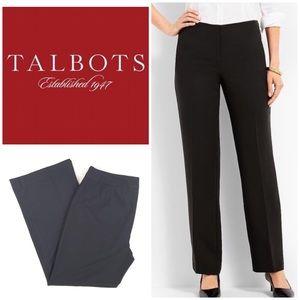 Talbots Classic Side Zip 14 Petite Black Pants